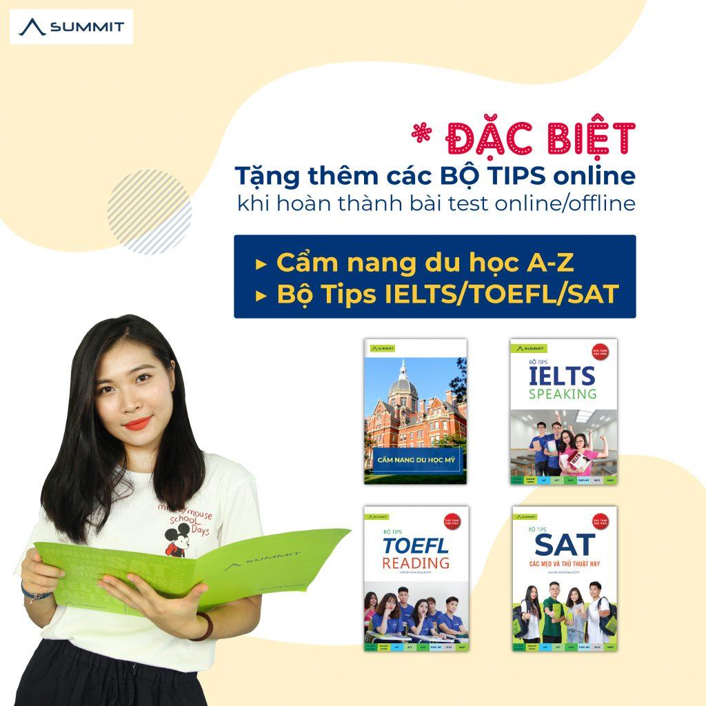 Bộ tips IELTS - TOEFL - SAT Summit